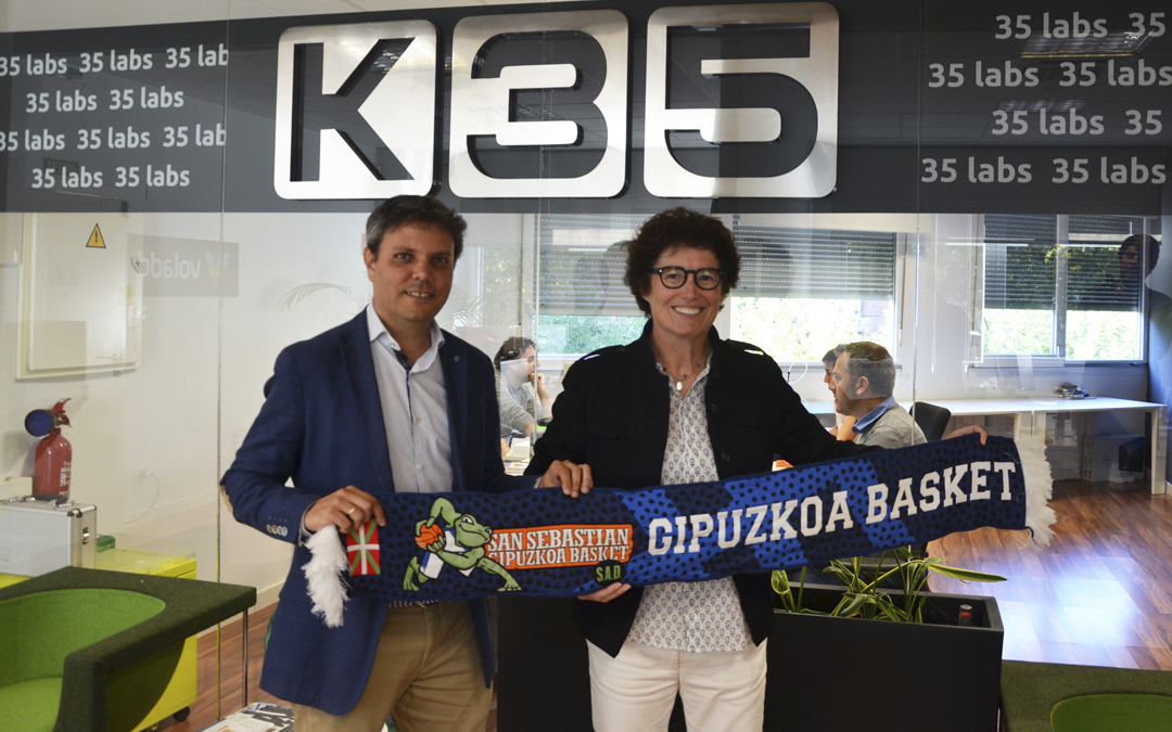 K35 apuesta por el deporte guipuzcoano apoyando al Delteco GBC
