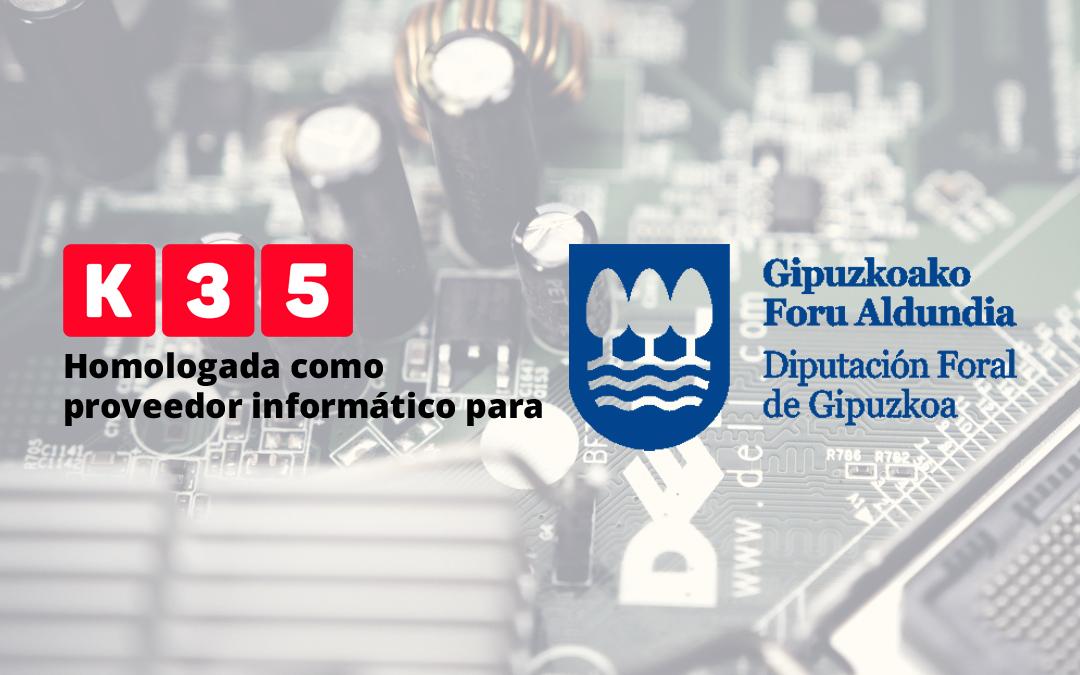 K35, homologada como proveedor informático para la Diputación Foral de Gipuzkoa