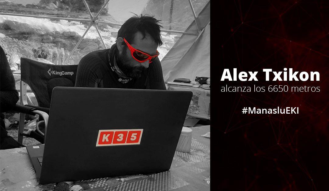 Alex Txikon alcanza los 6650m e intenta alcanzar la cumbre a pesar de las condiciones climatológicas