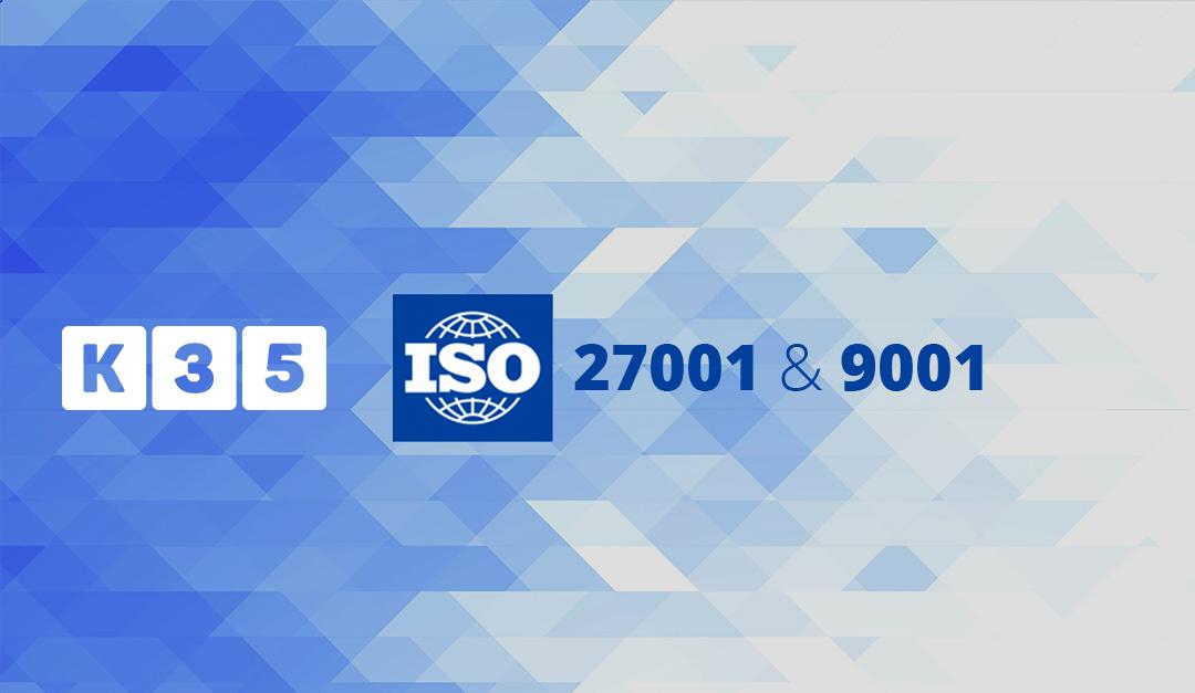K35 revalida las certificaciones ISO 9001 e ISO 27001